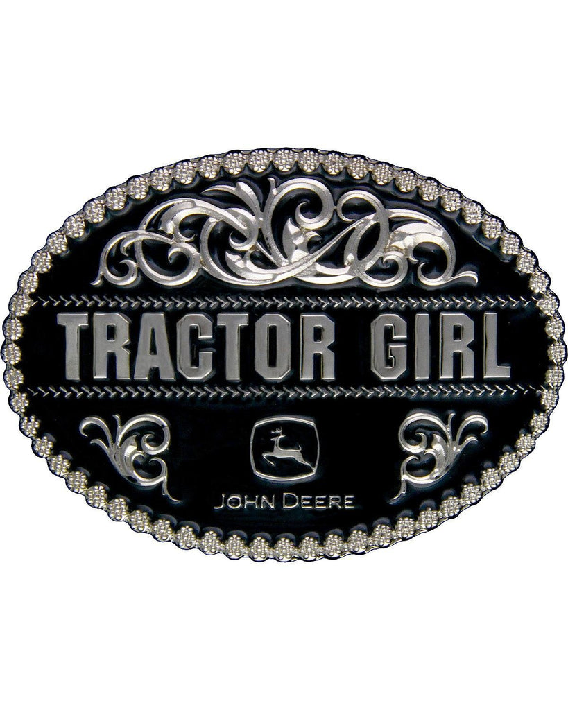 "John Deere ""Tractor Girl"" Belt Buckle (Black) - LP49316"