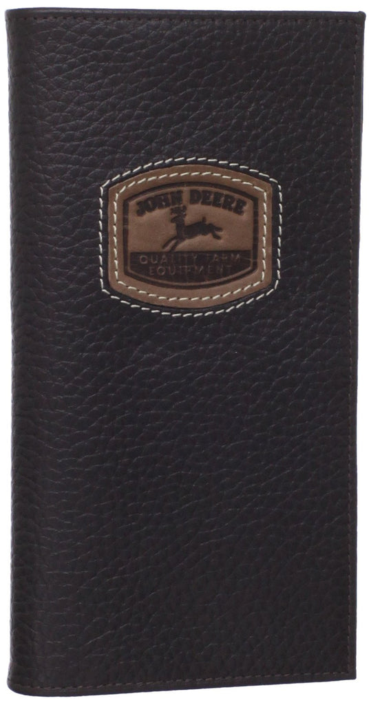 John Deere Checkbook Wallet w/Historical Log (Brown) - LP35482