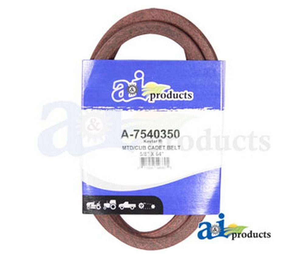 "A&I - Belt, Engine (w/ 46"" deep deck). PART NO: A-7540350"