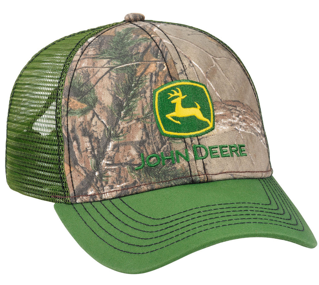 John Deere Men's Realtree APX/Green Mesh Cap/Hat - LP69080