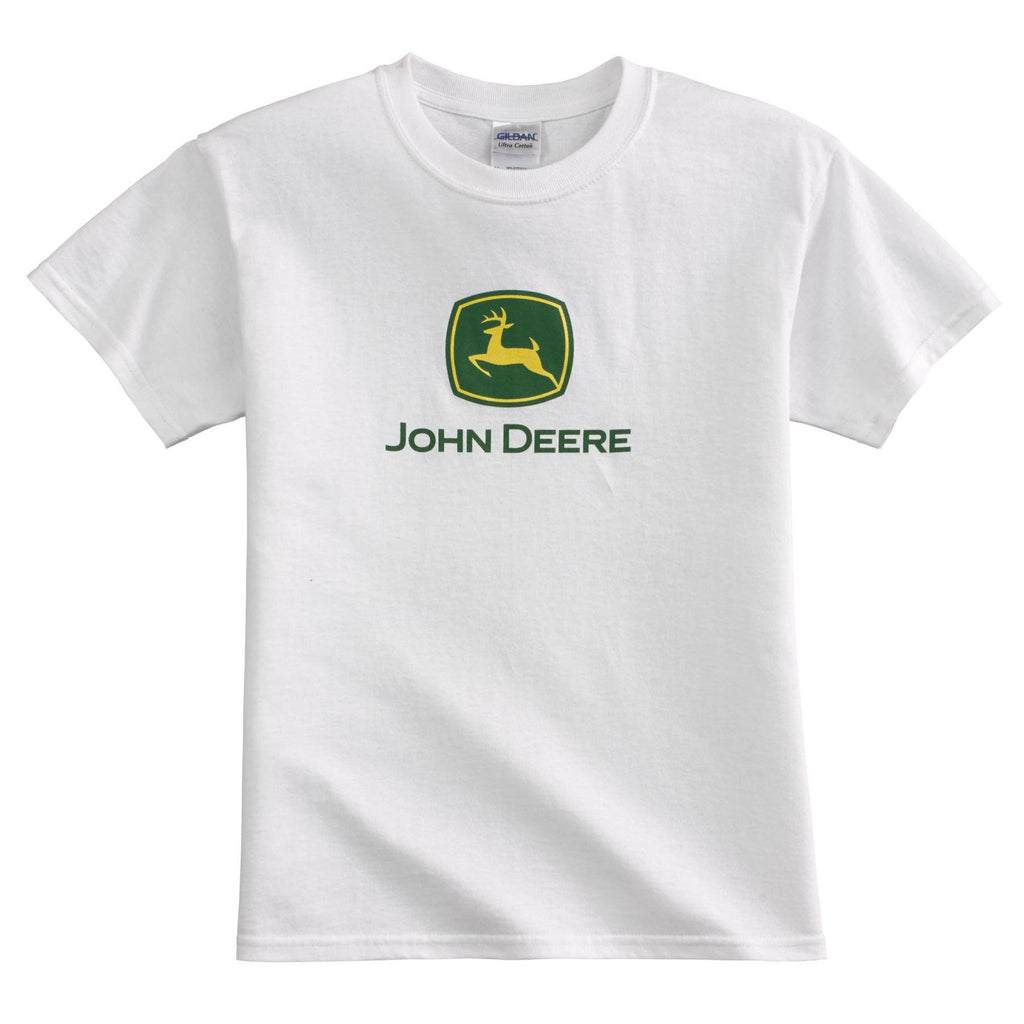 Youth John Deere Logo T-Shirt (White)(XL) - 197387