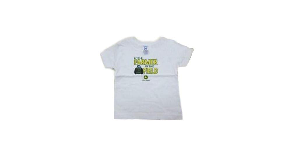 "John Deere Infant""Little Farmer in The Field"" T-Shirt (White)(6m) - LP31919"