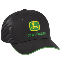 John Deere Black Chino/Mesh Back Cap - LP69079