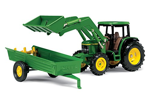 1/32 John Deere 6210 Tractor w/ Loader and Spreader Toy by Ertl - TBE15488