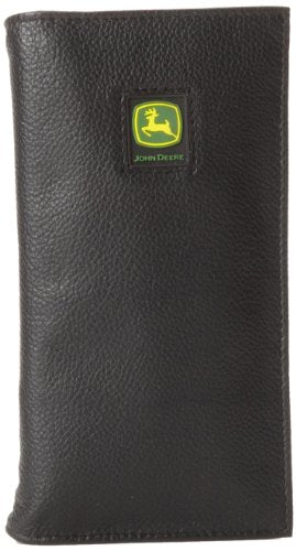 John Deere Leather Checkbook Wallet (Black) - LP12272