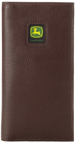 John Deere Leather Checkbook Wallet (Brown) - LP12273