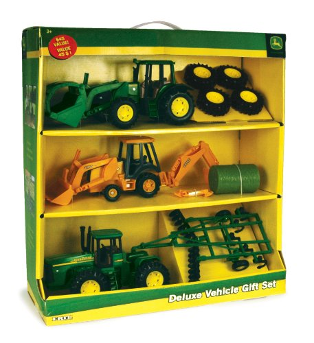 John Deere Deluxe Vehicle Gift Set by Ertl - TBEK35867
