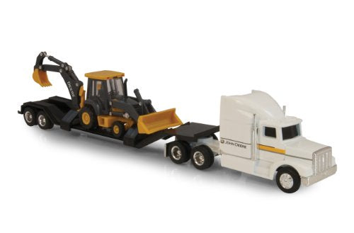 1/64 Semi with Lowboy and Backhoe Loader Toy by Ertl - TBE45353