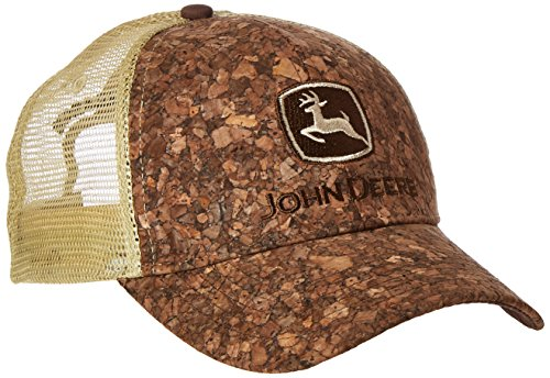 Men's John Deere Treebark Hat Cap (Brown/Tan) - LP41578