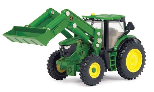 1/64 John Deere 2012 6210R Tractor Toy With Loader by Ertl - TBE45378