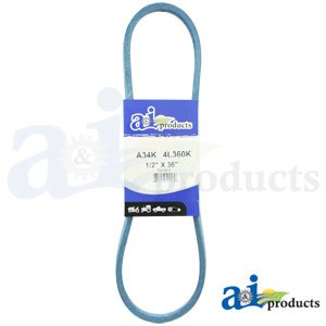 "A&I - Blue Aramid-Fiber V-Belt (1/2"" X 36"" ) (Deck 32""). PART NO: A-A34K"