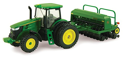 1/64 John Deere 7215R Tractor Toy w/ 1590 Grain Drill by Ertl - TBE45433
