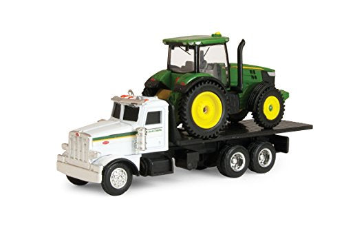 1/64 John Deere 7200R Tractor w/ Peterbilt Model 367 Toy by Ertl - TBE45410
