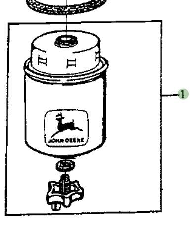John Deere Original Equipment Fuel Filter #RE62424