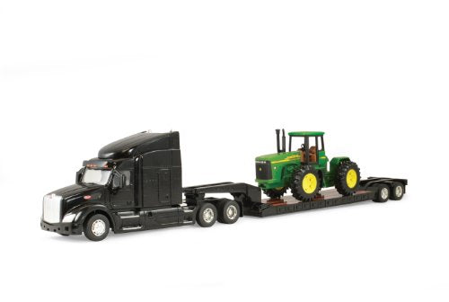Ertl Big Farm Peterbilt Model 579 Semi with John Deere 4 Wheel Drive Tractor - LP51316