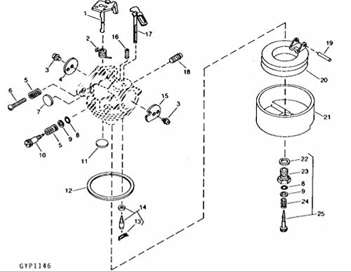 John Deere Original Equipment Carburetor Kit #AM100249