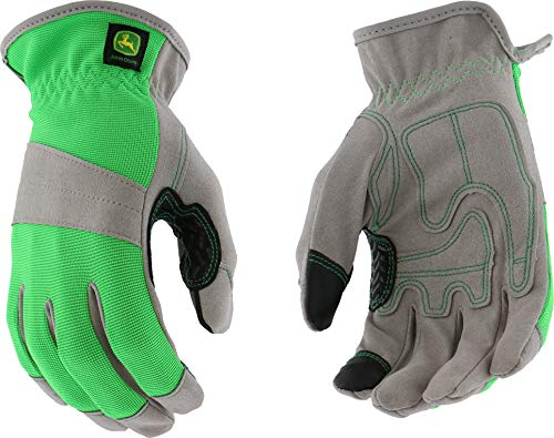 Ladies John Deere Touchscreen Gloves (Green/Gray)