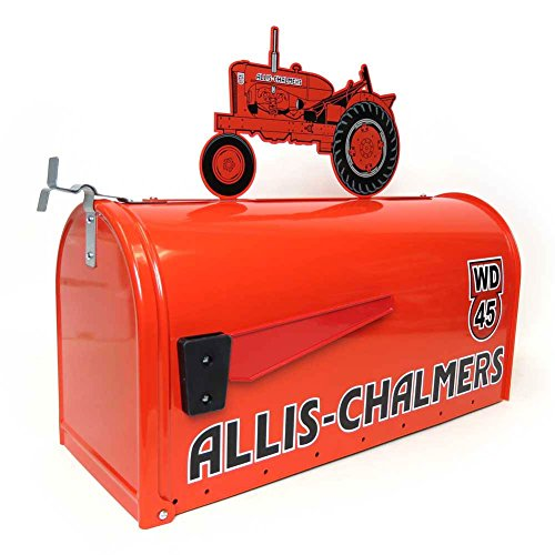 Allis Chalmers Rural Style Mailbox w/ WD45 Tractor Topper