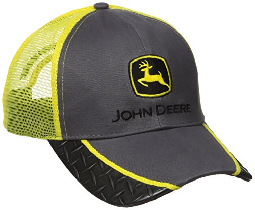 Men's John Deere Hat / Cap (Black/Gray/Yellow) - LP64488