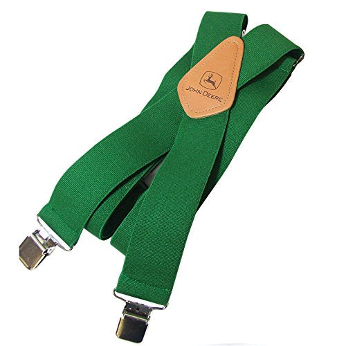 "John Deere Men's Green Suspenders 2"" Wide - LP25945"
