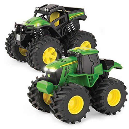 John Deere 6in Monster Treads With Lights and Sounds 2 pack - LP68183