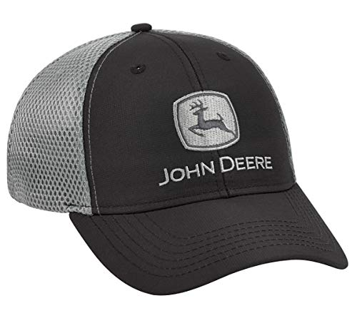 John Deere Black/Gray Stretch Fit Cap - LP69230