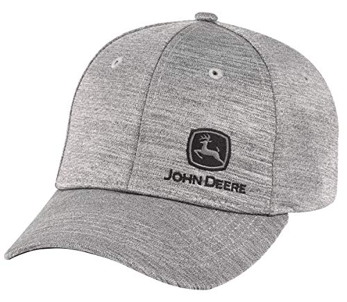 John Deere Black Space Dye Fabric Cap - LP69065