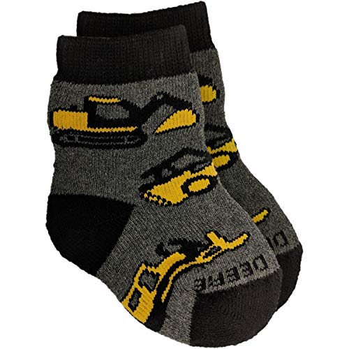 John Deere Infant Boys Construction Crew Socks 12-24 Months - LP69003