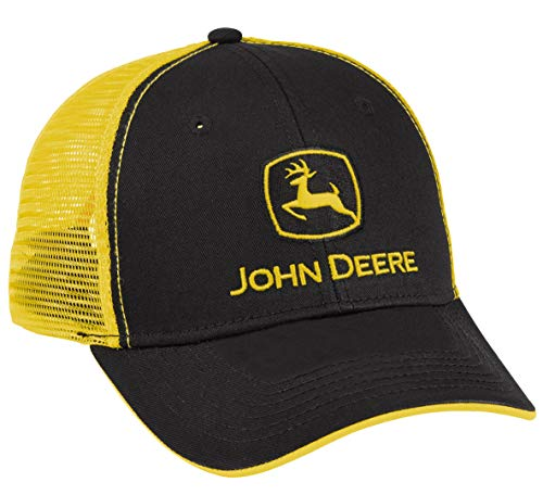 John Deere License Black and Yellow Mesh Cap - LP69091