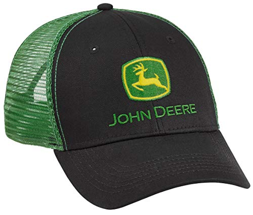 John Deere Authentic Licensed Black and Green Mesh Hat/Cap - LP69092