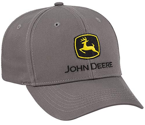 John Deere Charcoal Pro Chino Twill Cap/Hat - LP69105