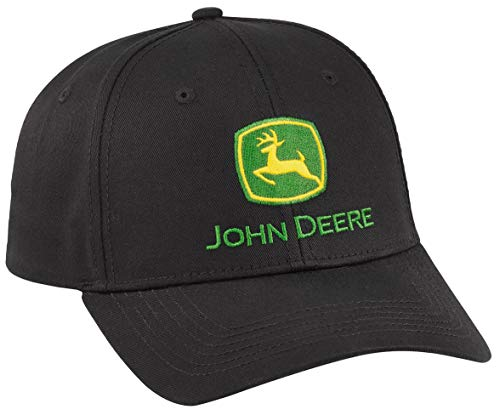 John Deere Men's Black Pro Chino Twill Cap/Hat - LP69106