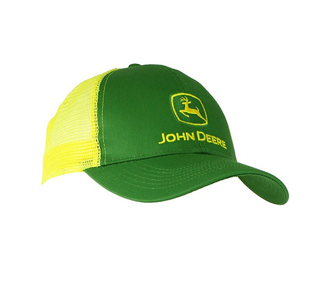Men's John Deere Green w/ Yellow Mesh Hat / Cap - LP47321