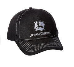 Men's John Deere Poly Mesh Hat / Cap (Black) - LP67048