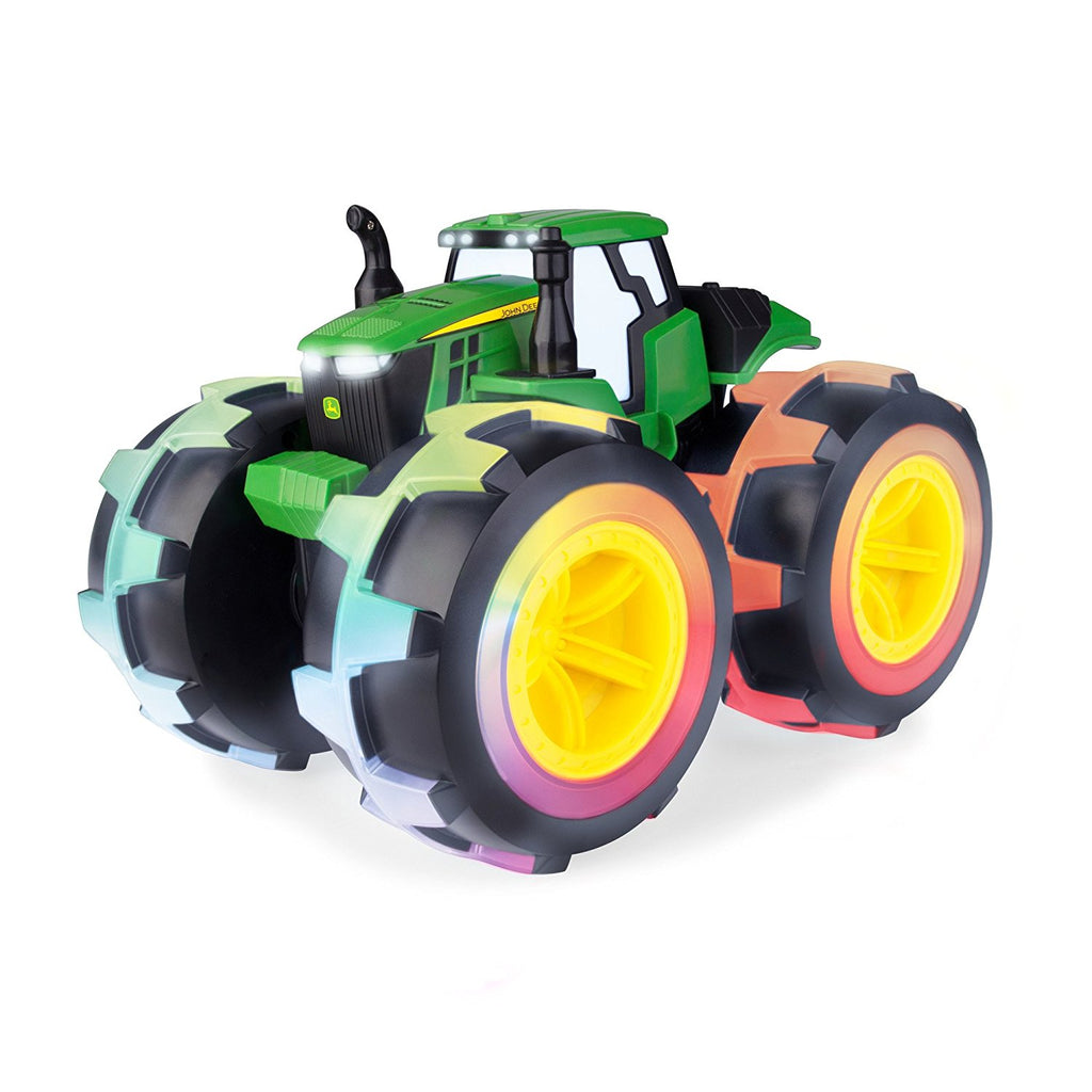 John Deere Monster Treads Deluxe Lightning Wheels Toy Tractor - LP68154