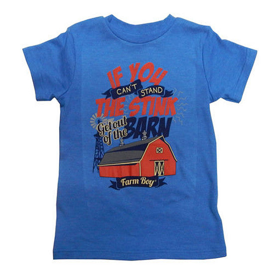 "Youth ""If you can't stand the stink…"" T-Shirt (Blue) - F73003106"
