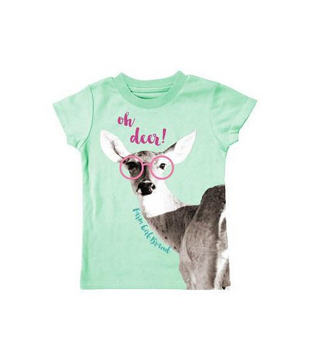"Toddler Farm Girl Brand ""Oh Deer!"" T-Shirt (Mint) - F63008228"