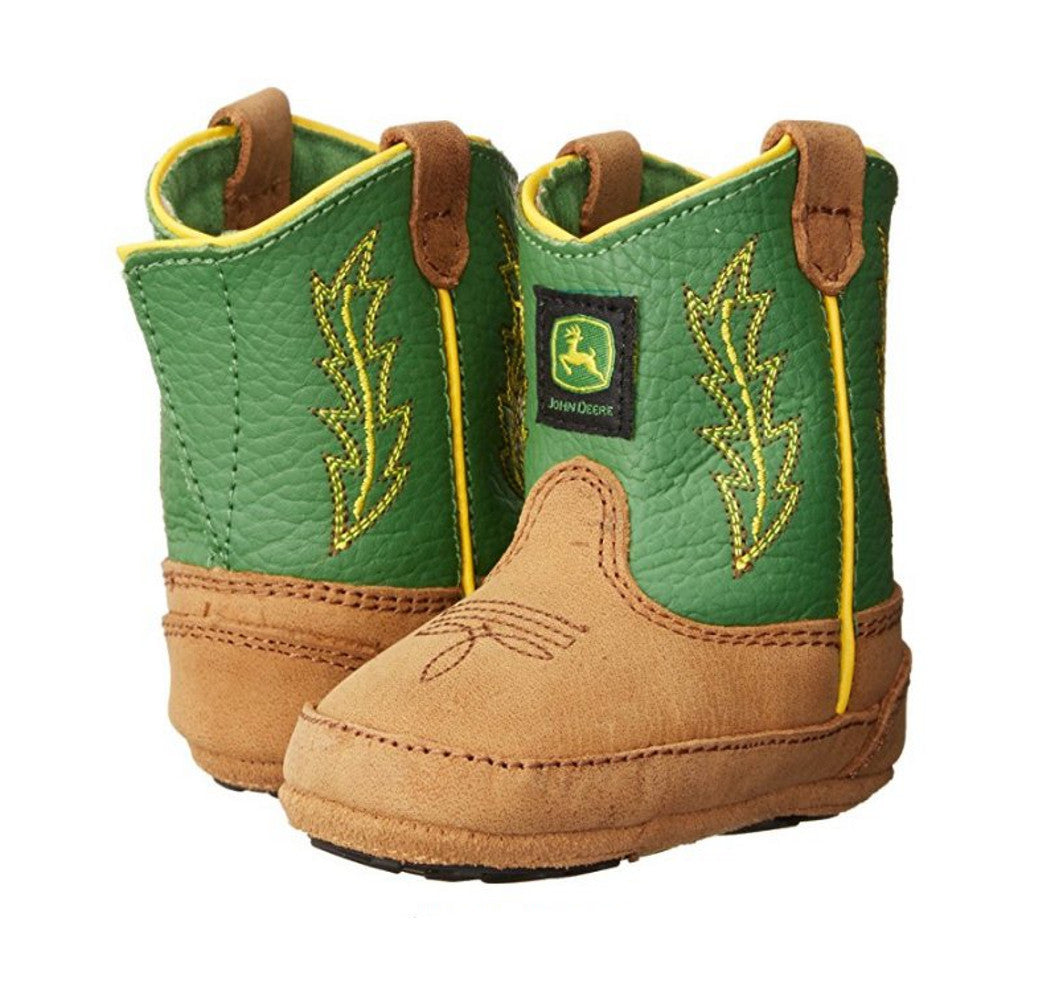 Infant Johnny Popper John Deere Cowboy Boots (Green)