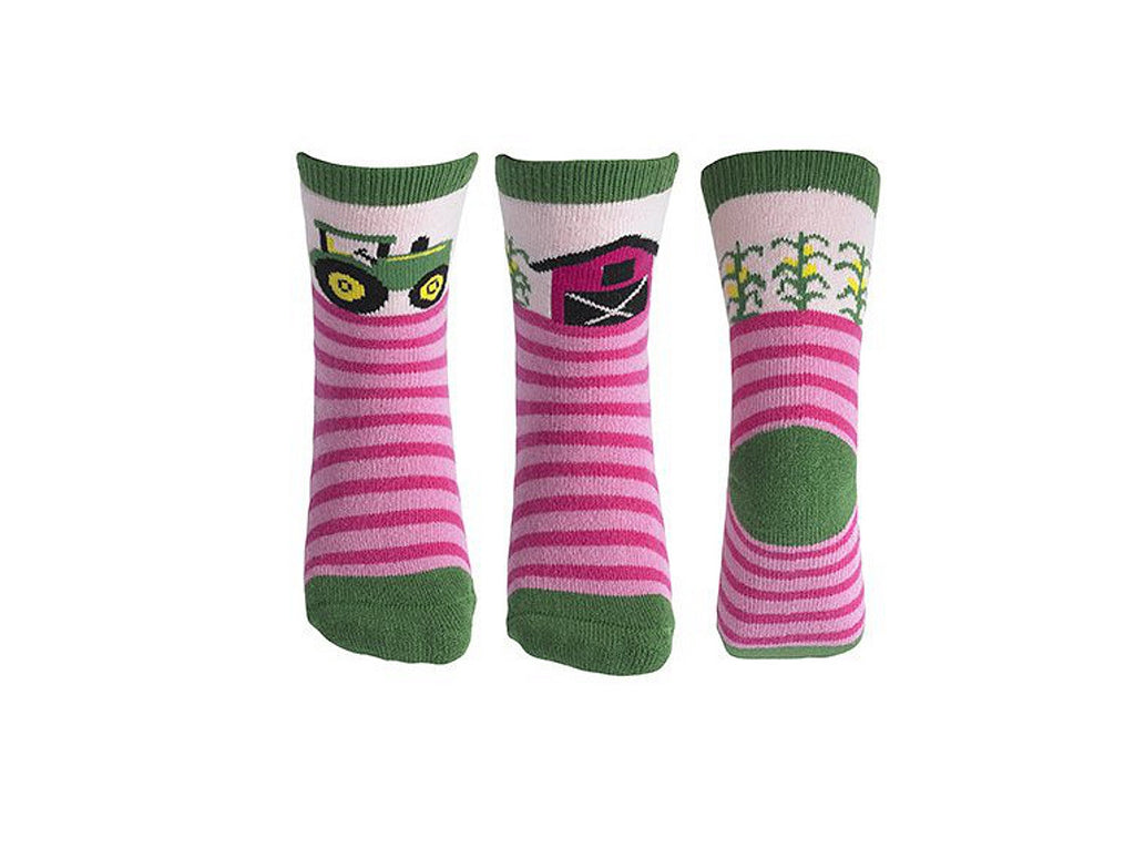 John Deere Farm Slipper Socks (Girls)