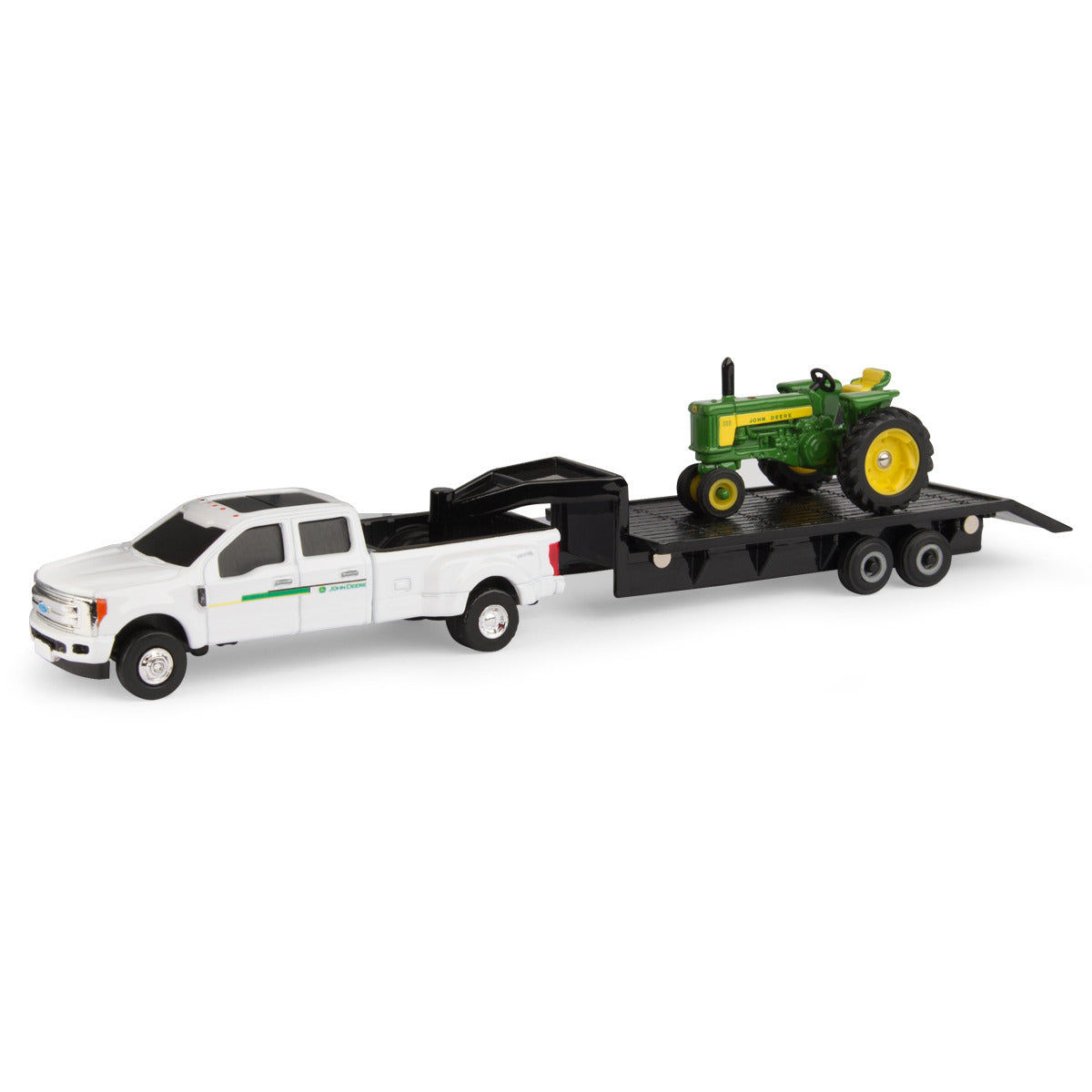 1/64 John Deere 530 Tractor with trailer and Ford truck Toy - LP68816