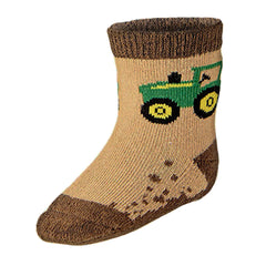Infant / Toddler John Deere Tractor Socks (Brown)