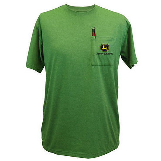 Men's John Deere Pocket Tee T-Shirt (Green)