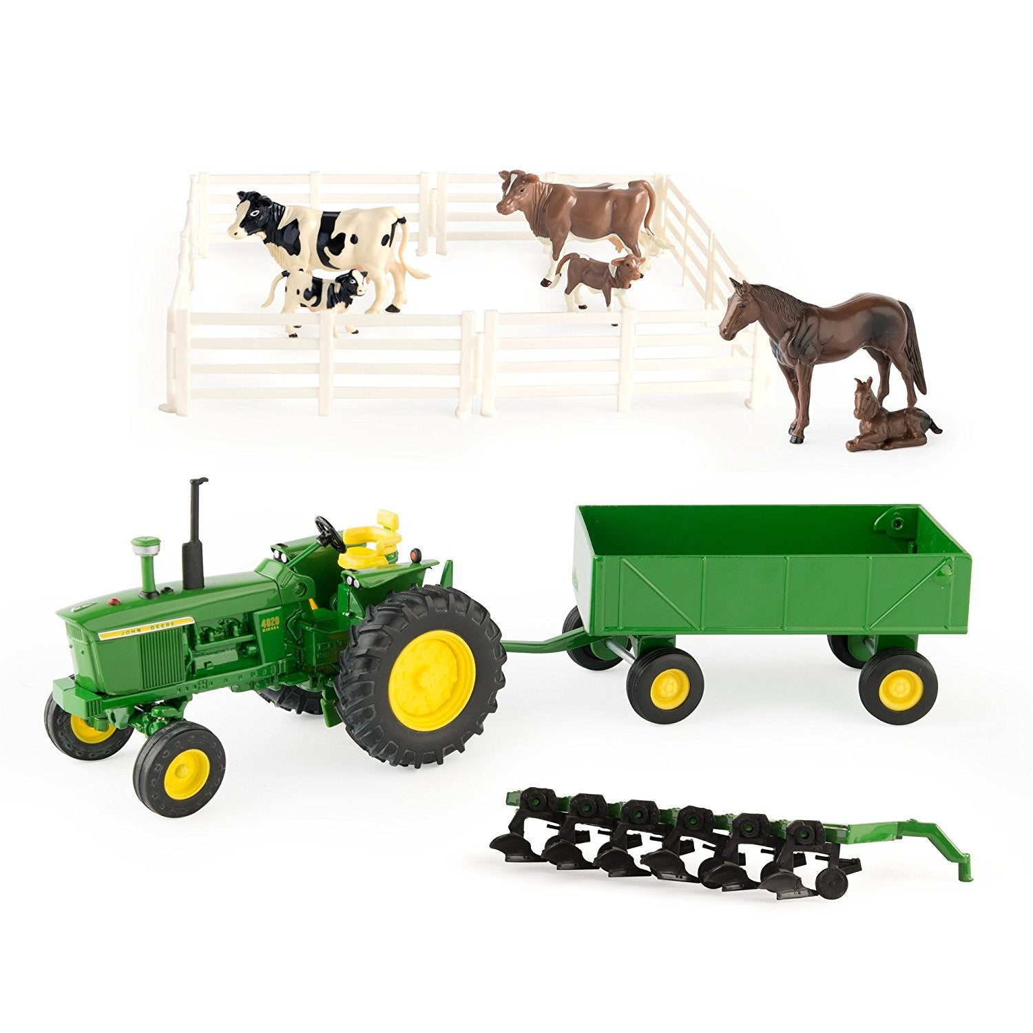 1/32 Scale John Deere Farm Toy Playset w/ 4020 Tractor - LP64818