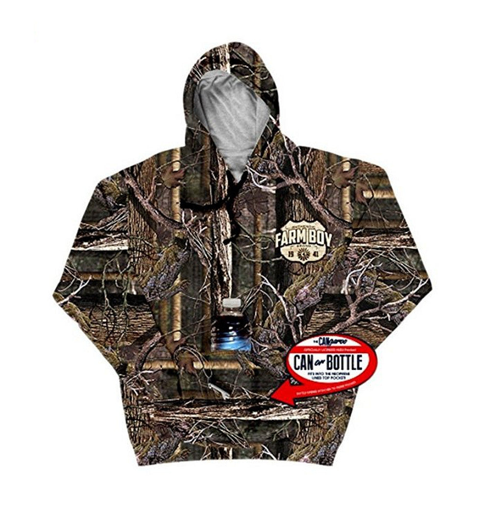 Men's Farm Boy Camouflage Hoodie w/ Can Holder - F14093227