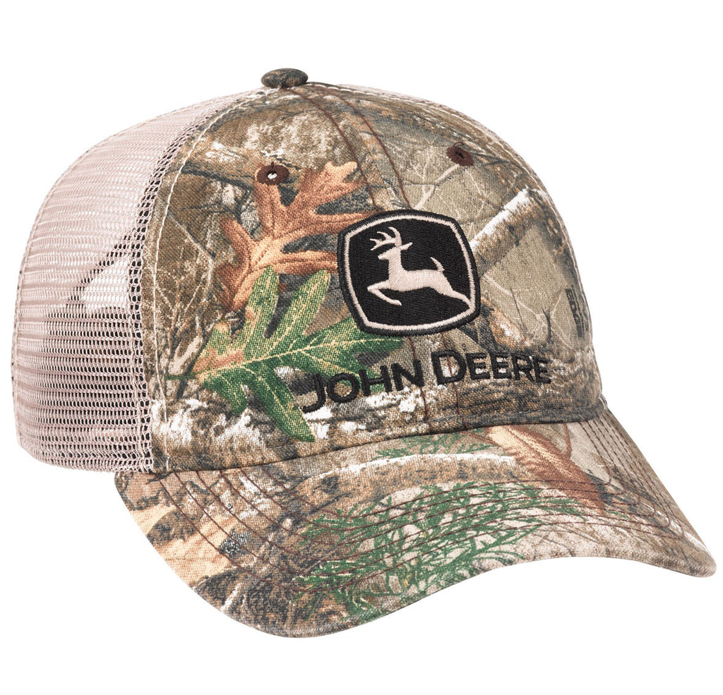 John Deere Men's Washed Edge Camo with Mesh Hat/Cap - LP69050
