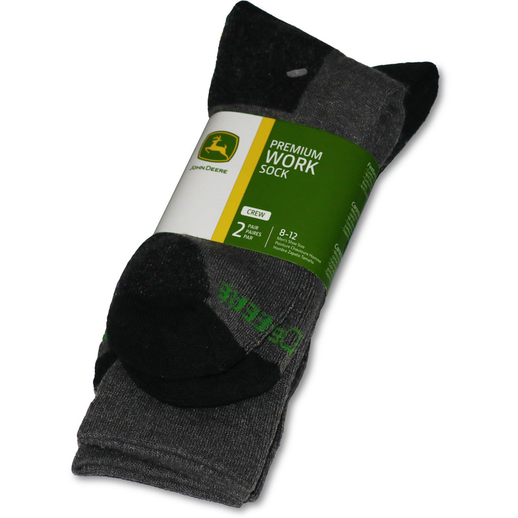 John Deere Men's 2 Pack Premium Work Crew Sock - LP73322
