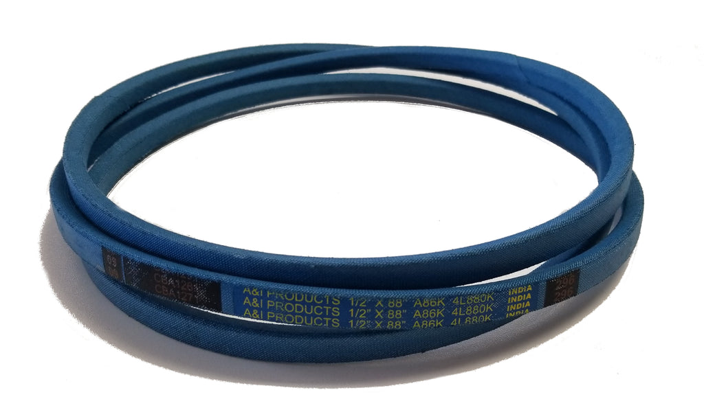 "A&I (Made with Aramid-Fiber) Blue V-Belt (1/2"" X 88"") - A-A86K"
