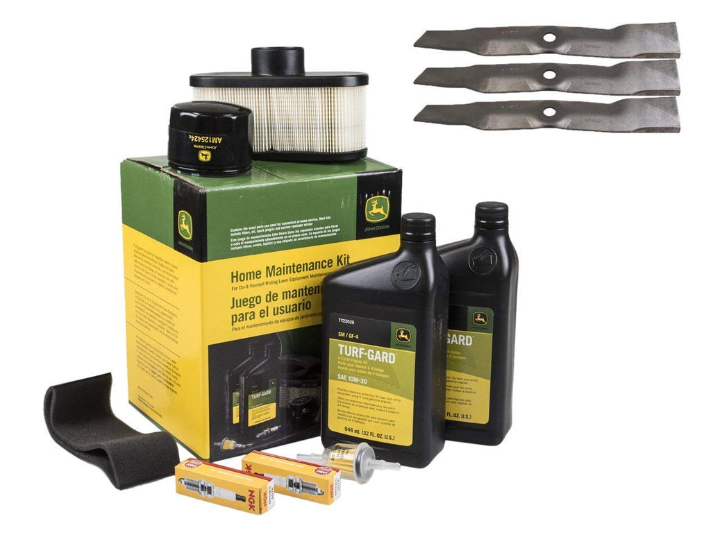 John Deere Original Equipment Full Maintenance Kit - LG265 + (3) M145476 Blades
