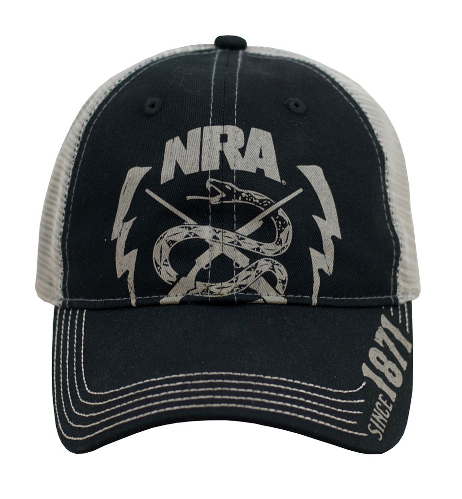NRA Snake Logo Cap with Mesh Back - A0115