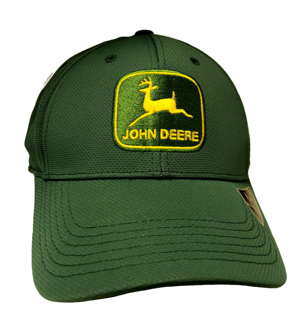John Deere Mens Green Memory Fit Cap - LP70334